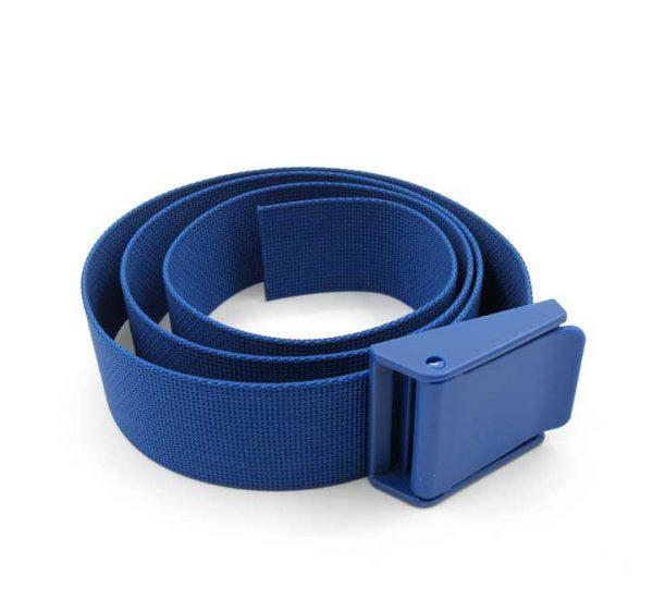 2 inch nylon weight belt plastic buckle blue